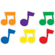 Picture Cards for Classroom Display | Musical Notes Cut Outs
