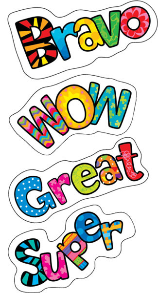 Reward Stickers | Colourful Designer Reward and Praise WordsStickers for Teachers