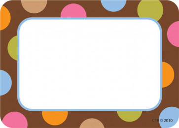 Dot Designer Name and Visitor Badges or school resource labels