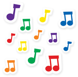 Teacher Reward Stickers   Musical Notes Kids Stickers for the Classroom