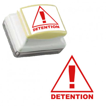 School Stamps | Warning / Punishment Detention Stamp - Red Ink, Self-inking