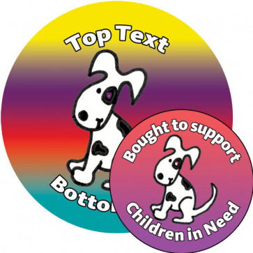 Personalised Stickers for Kids | Customise this cute pupppy sticker to delight kids and support Children in Need!