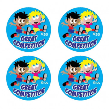 Kids Stickers | Great Competitor Sports 25mm Stickers