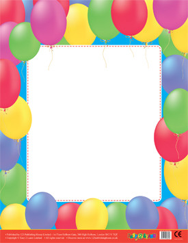Classroom Teacher Resources | Balloons Wipe Off Poster