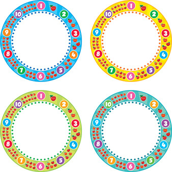 Classroom Display Resources | Number Edged Circle Cutouts for Classroom Displays