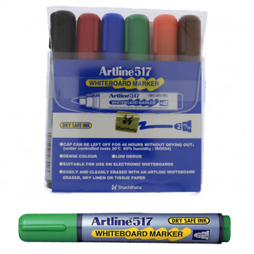 Whiteboard Markers | Artline EK517 - Wallet Set 6 Pens