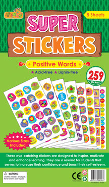 Teacher Stickers | Positive Words, Reward Stickers for Schools
