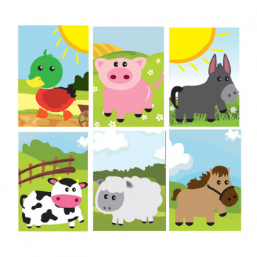 Party Bag Filler | 12 x Small Farm Friends Animal Kids Notepads.