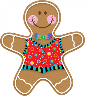 Classroom Display Cut Outs | Gingerbread Man Picture Cards