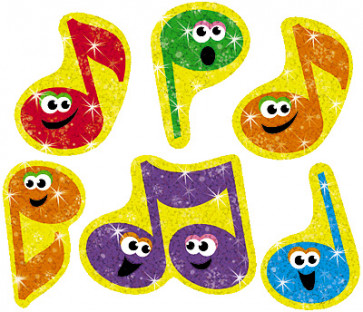 Merry Music Sparkle Children's Stickers