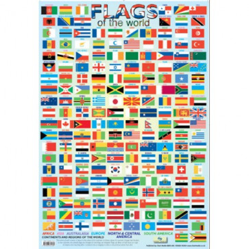 School Educational Posters | Flags of the World Chart