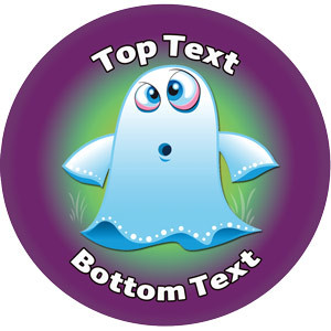 Personalised Stickers for Teachers | Halloween Ghoul Ghost Design to Customise for Kids