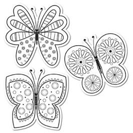 Classroom Activity | Colouring Butterfly Cut Out Cards
