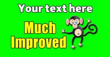 Teacher Personalised Marking Stickers | Much Improved, Monkey Design Sticker to Customise