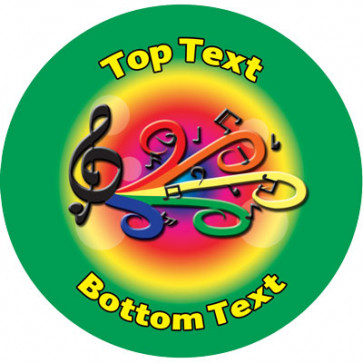 Personalised Stickers for Kids | Music Reward Designs to Customise for Teachers