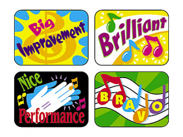 Music Rewards Merit Stickers for the Classroom
