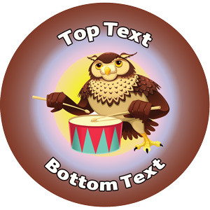 Personalised Stickers for Kids | Drumming Music Reward Designs to Customise for Teachers