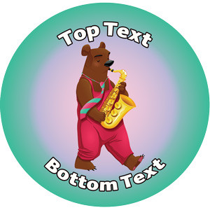 Personalised Stickers for Kids | Saxaphone Music Reward Designs to Customise for Teachers