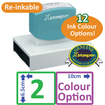 Custom Rubber Stamps | Extra Large Personalised 2 Colour Stamp