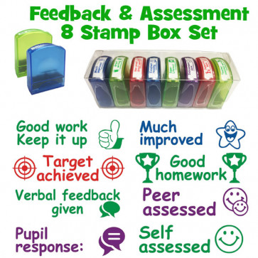 School Stamps | Feedback & Assessment 8 Included Stamps