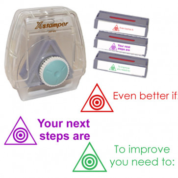 Xstamper 3-in-1 Stamp Set: Your next steps are: To improve you need to: Even better if: