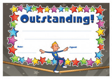 School Certificates | Outstanding message, cool design kids awards