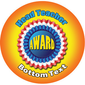 Personalised Stickers for Teachers | Head Teacher Award Design to Customise for Kids