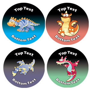 Personalised Stickers for Kids | Dinosaur Dragons Designs to Customise for Teachers