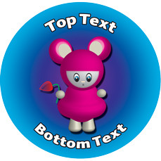 Personalised Stickers for Kids | Pink Alien Designs to Customise for Teachers