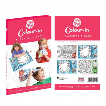 Colouring In | Eggnogg Colour In Placemats - 4 Per Pack