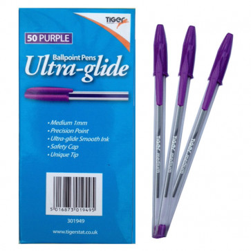 School Pens | Purple / Violet Writing Ink Marking Pens for Teachers