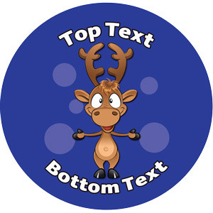Personalised Stickers for Teachers | Cute Reindeer Xmas Design to Customise for Kids