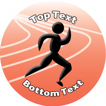 Personalised Stickers for Kids   Runner Track Sports Stickers to Customise