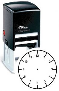 Teacher Stamps | Large, 12 Hour Clock Face Teach the Time School Self-Inking Stamp