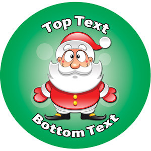 Personalised Stickers for Teachers | Jolly Santa Xmas Design to Customise for Kids