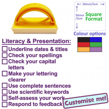 Teacher Stamp | Science Literacy & Presentation Marking Checklist