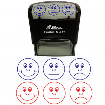 School Teacher stampers | Self-Assessment 3 Faces Design Self-inking Stamp