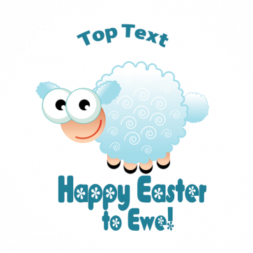 Personalised Stickers for Teachers | Happy Easter to Ewe! - Cute Lamb Design to Customise for Kids