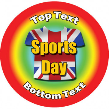 Personalised Stickers for Kids   Union Jack, Sports Day for School Sports Days
