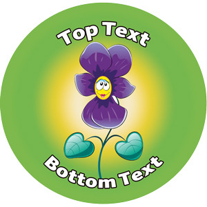 Personalised Stickers for Kids | Flower Design Reward Sticker to Customise