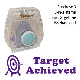 3-in-1 Stamper | Target Achieved Teacher Message Stamp