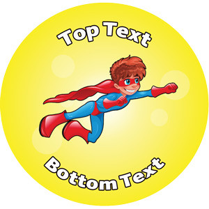 Personalised Stickers for Teachers | Boy Superhero Design to Customise for Kids