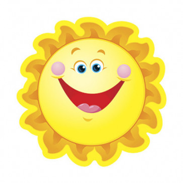 Classroom Display Resources | Smiling Sun Accents / Cut Out  Cards (small)