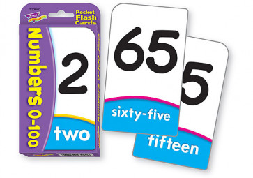 Pocket Flash Cards Educational Game | Numbers 0-100. Maths Flash Cards
