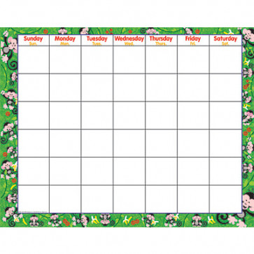 Monkey Wipe-Off Monthly Calendar