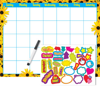 Classroom Resources | Reusable Flower Wall Monthly Calendar Kit