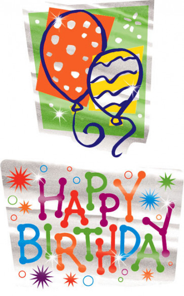 Kids Stickers | Sparkle Happy Birthday School Stickers