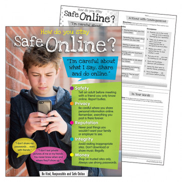 School Poster | How to be safe online