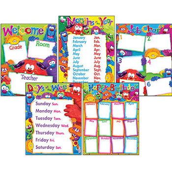 Teacher Poster Display Pack | Furry Friends - Cute Monster design poster pack