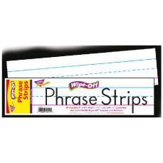 Wipe Off Phrase Writing Strips | White